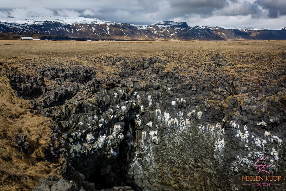 Basalt kust bij Snæfellsness IJsland