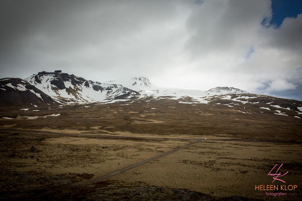 Uitzicht vanaf Saxholl Vulkaan IJsland