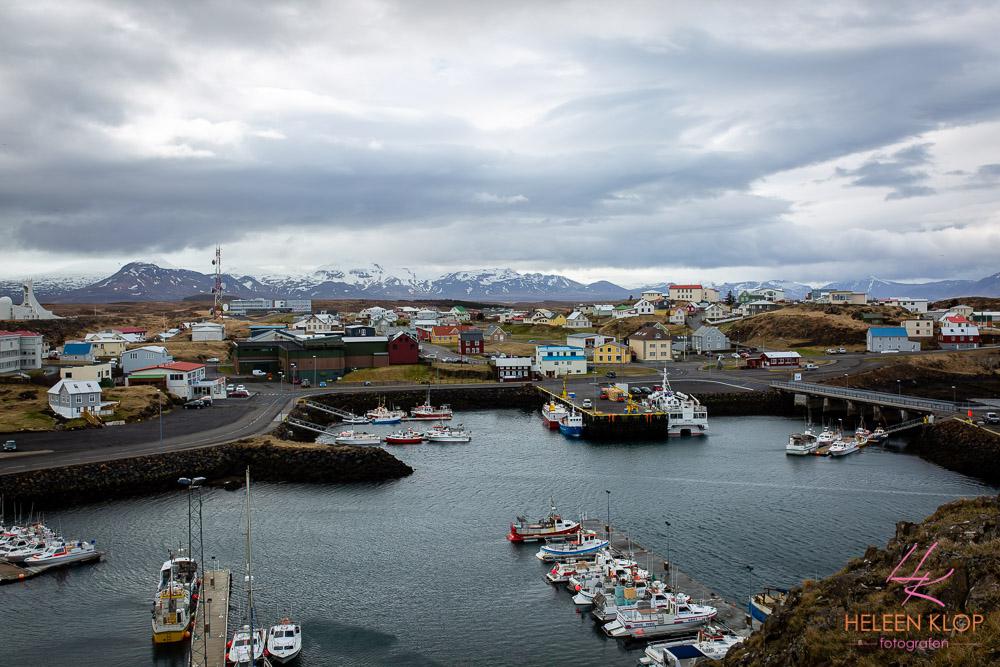 Uitzicht vanaf vuurtoren bij Stykkishólmur, IJsland