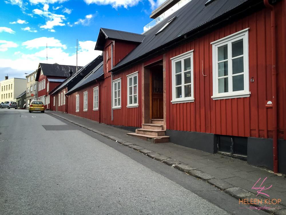 Rode huizen van Reykjavik