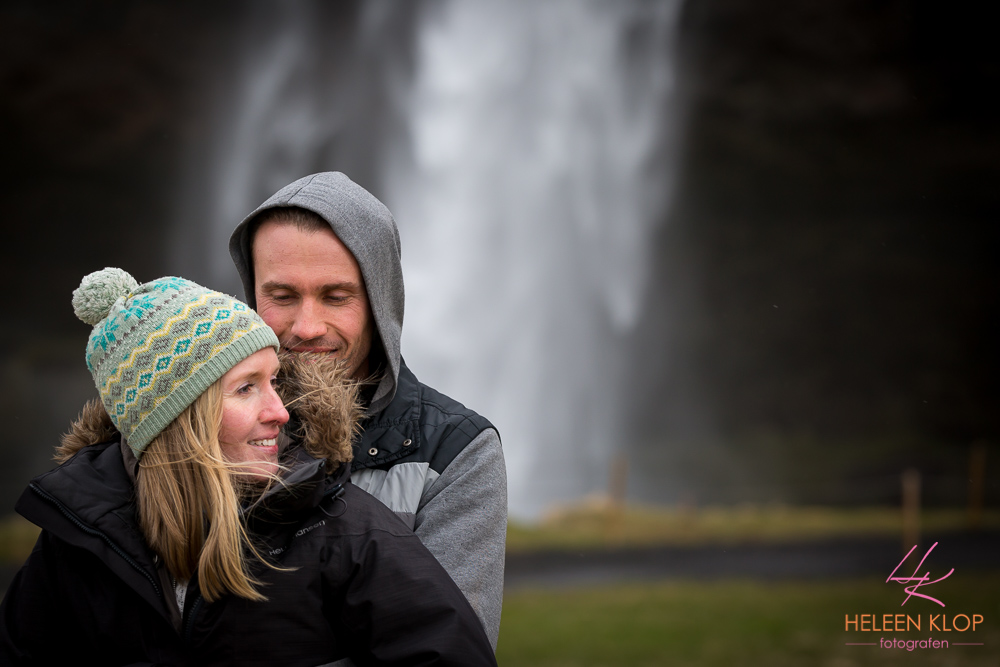 Loveshoot bij Seljalandsfoss