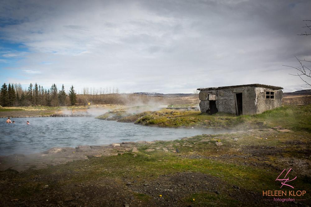 Secret Lagoon bij Fludir IJsland