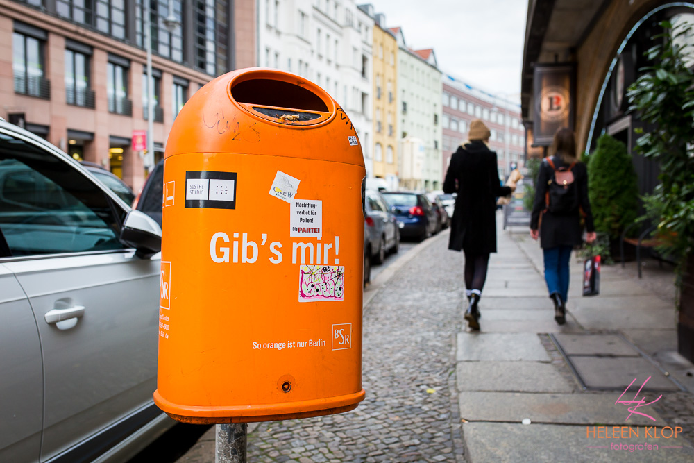 Oranje Prullenbak Berlijn