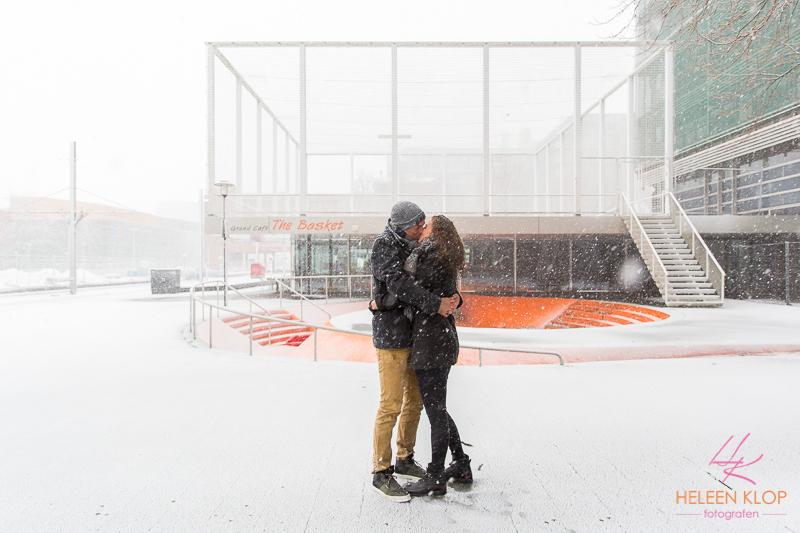 Loveshoot In De Sneeuw Op De Uithof 003