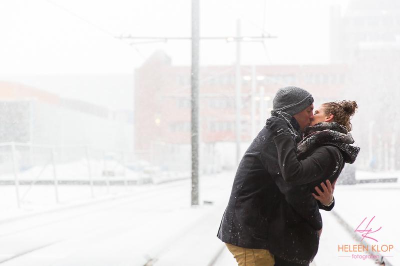 Loveshoot In De Sneeuw Op De Uithof 006