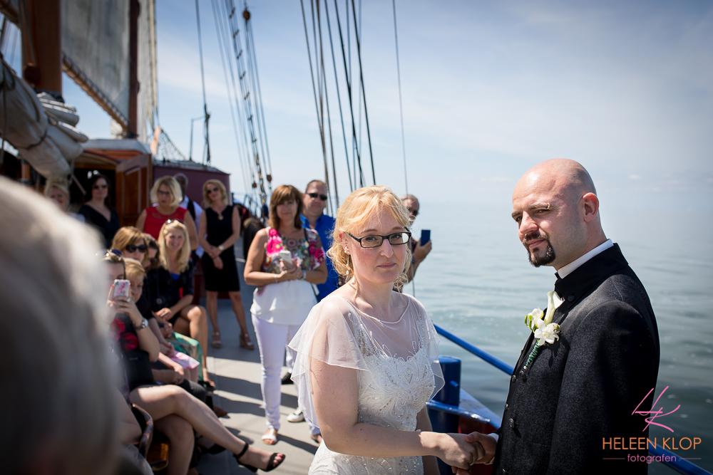 069 Bruiloft In Amsterdam En Lelystad Op De Willem Barentsz Zeilschip