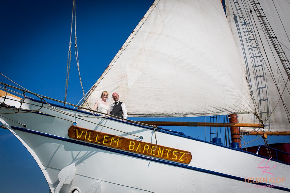 Bruiloft In Amsterdam En Lelystad Op De Willem Barentsz Zeilschip