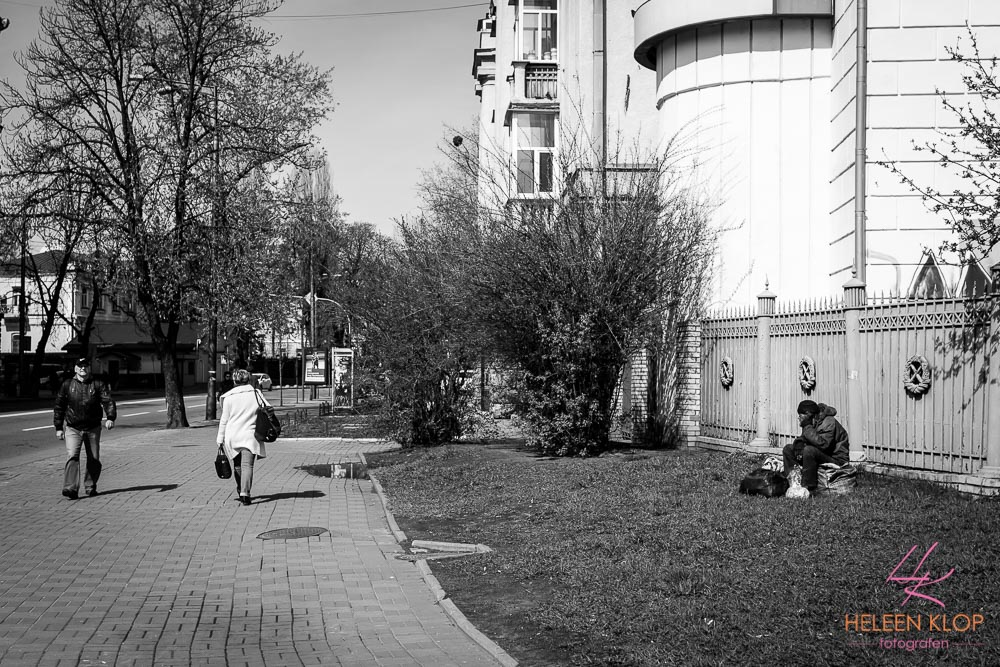Straatbeeld Kiev Oekraine