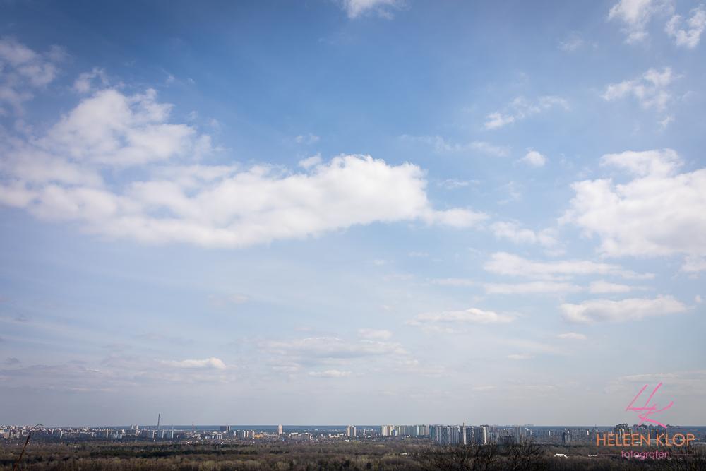 Uitzicht over nieuw Kiev