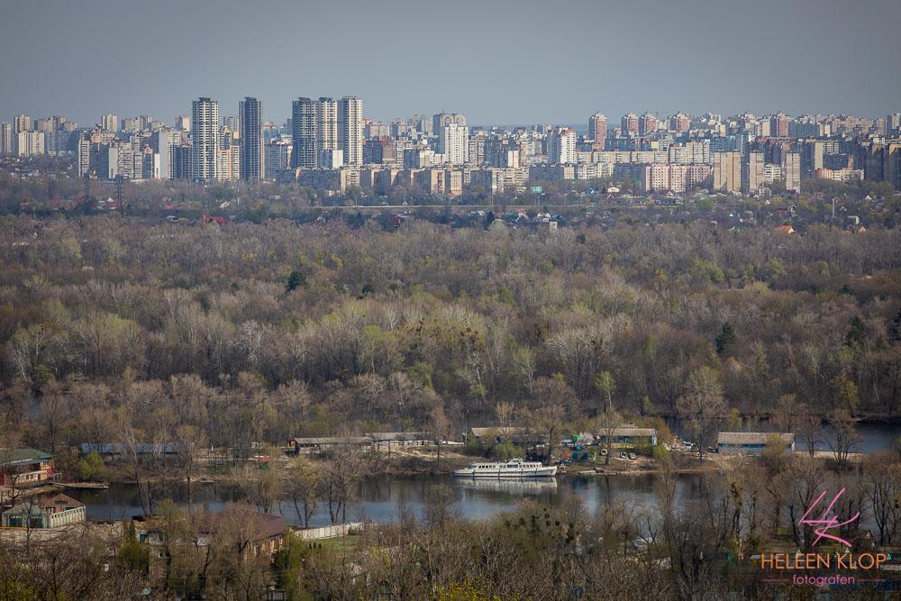 Uitzicht over natuur van Kiev