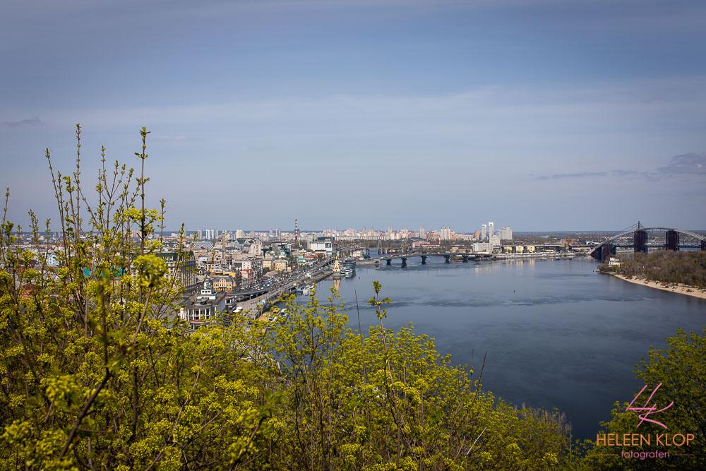 Uitzicht over Haven bij Podil Kiev