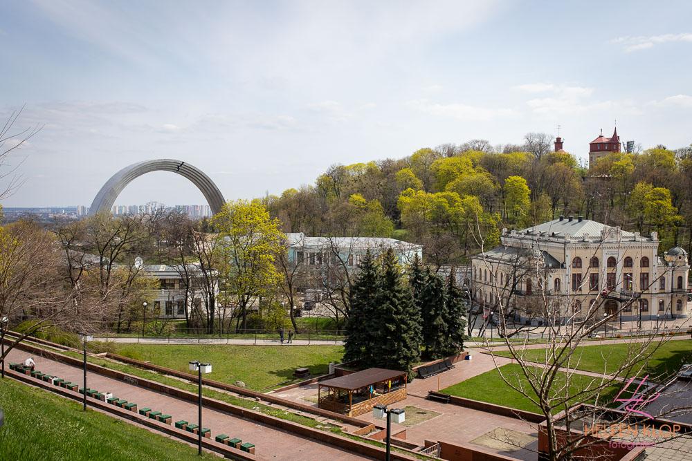 Uitzicht op Vriendschapsboog Kiev