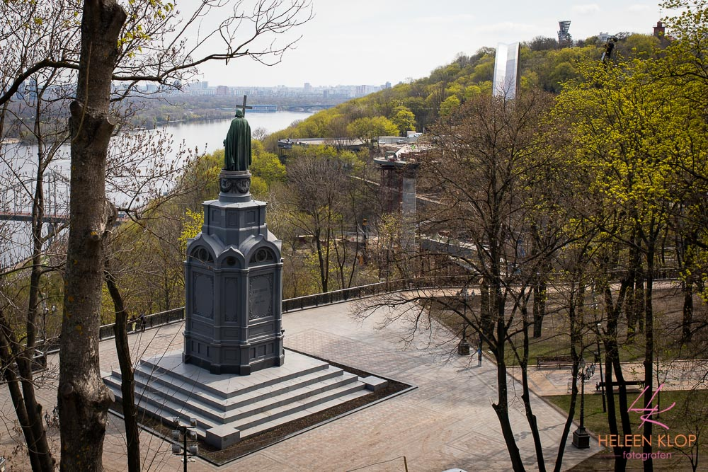 Uitzicht op rivier Dnjepr Kiev