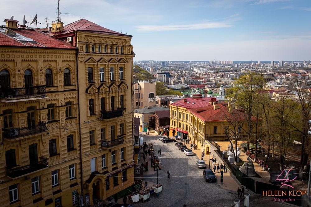 Uitzicht vanaf St. Andreaskerk Kiev