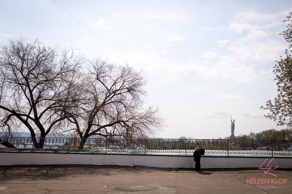 Uitzicht op standbeeld Motherland
