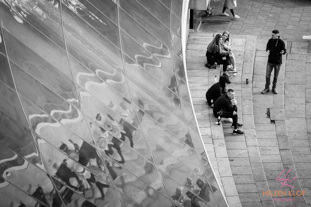 Hangen op het plein Maidan