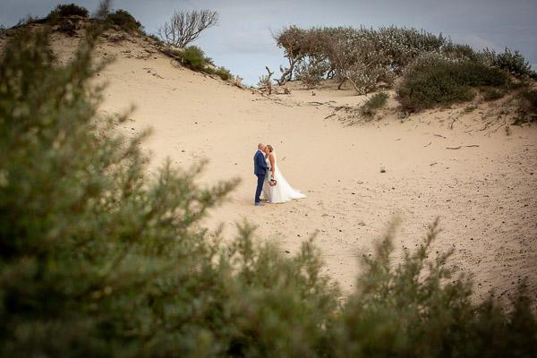 Bruidsreportage in Kijkduin