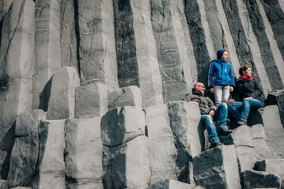 Gardar, basaltformatie aan de zuidkust van IJsland
