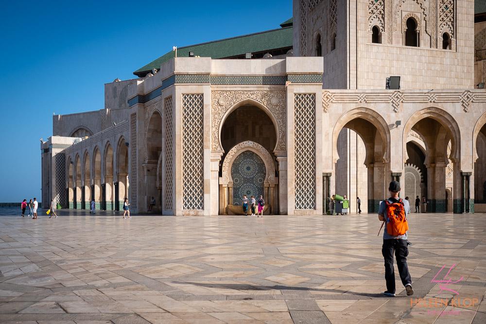 Ochtend bij de Moskee Casablanca