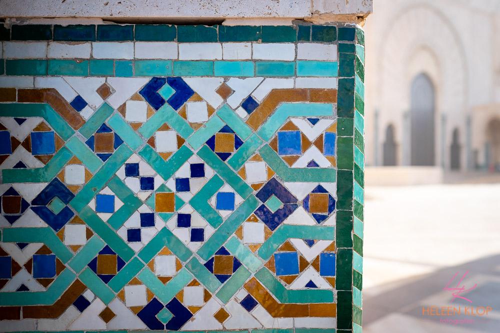 Detail Hassan II Moskee Casablanca