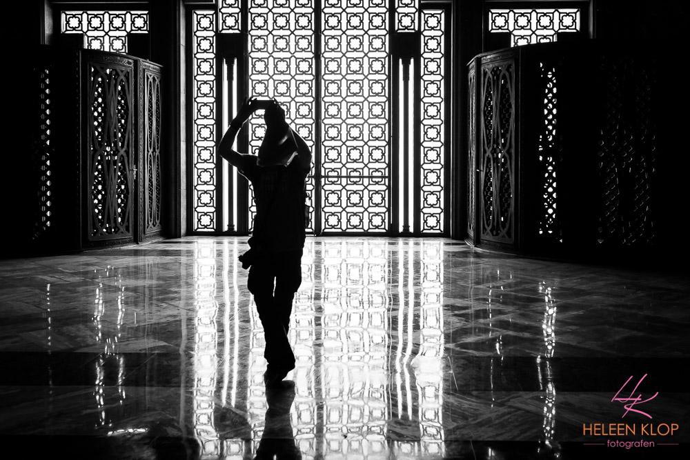Binnen bij de Moskee Casablanca