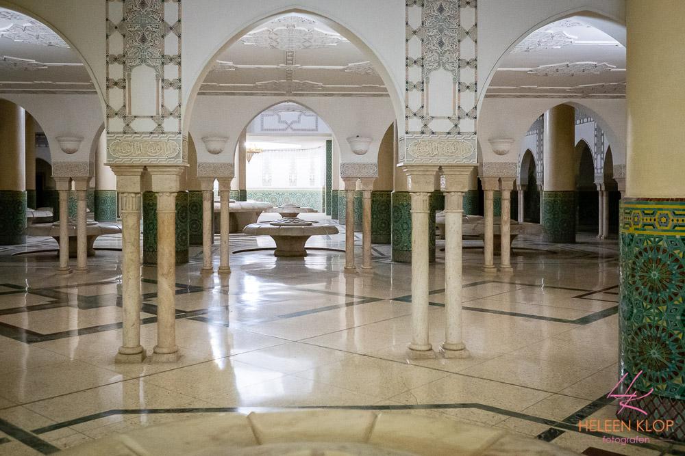 Wasruimte Hassan II Moskee Casablanca