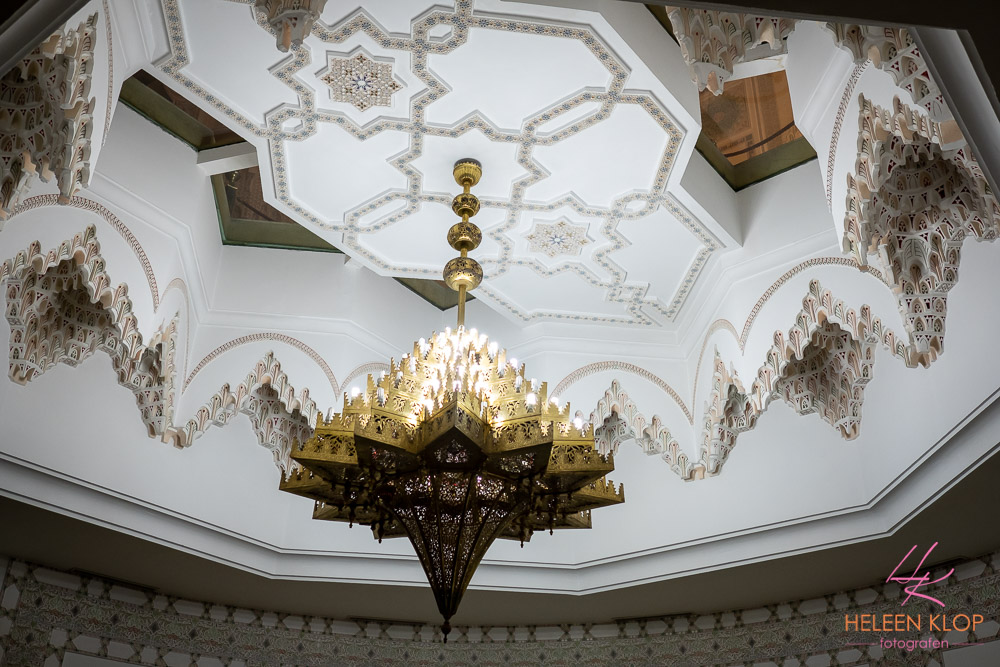 Plafond Hassan II Moskee Casablanca