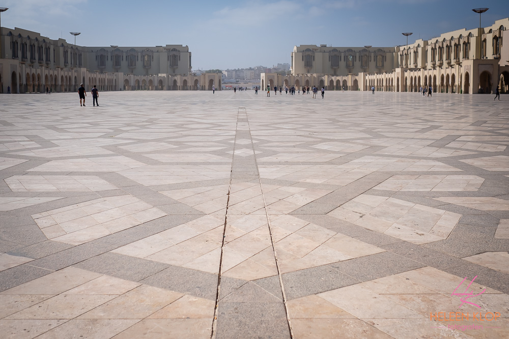 Grote plein Hassan II Moskee Casablanca Marokko