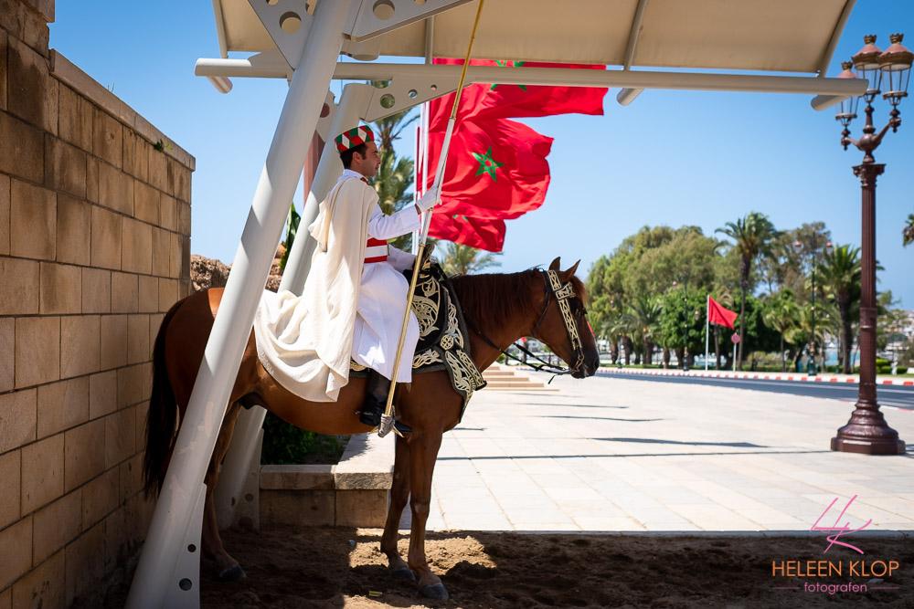 Wachters bij Mausoleum Mohammed V Rabat