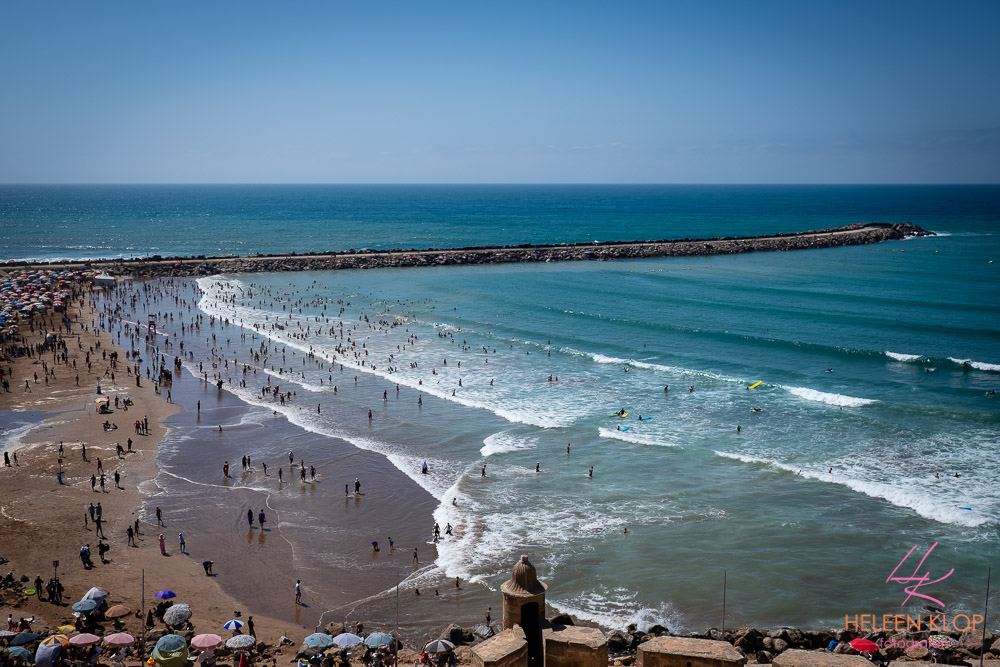 Strand bij hoofdstad Rabat Marokko