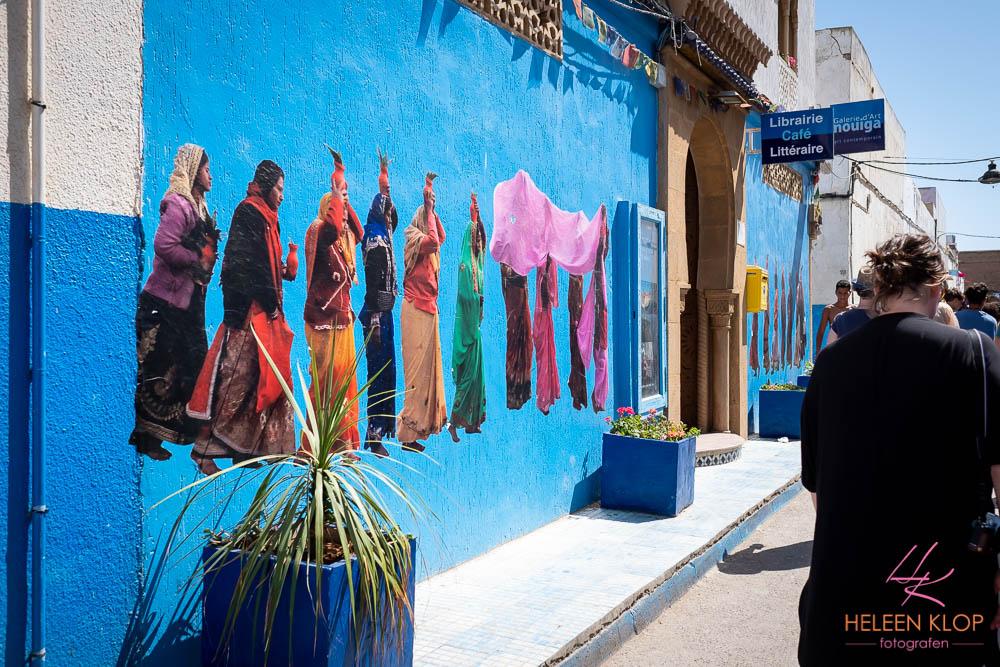 Blauw in de Medina Rabat