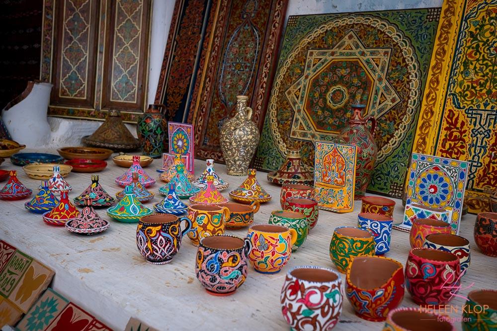 Handwerk in de medina van Rabat