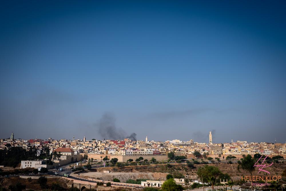 Uitzicht over Medina van Meknes