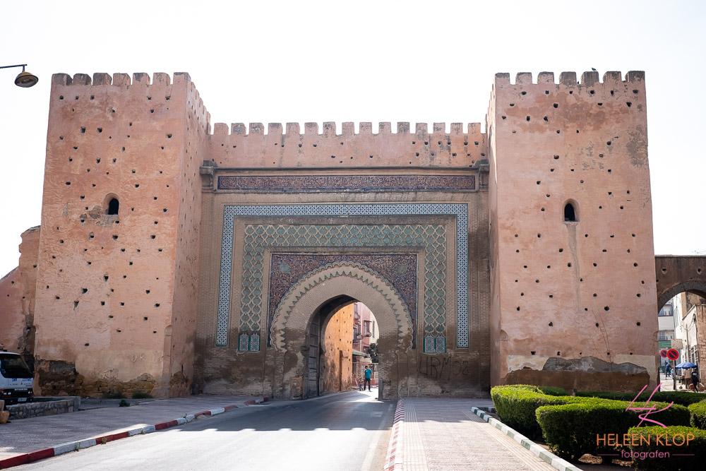 "Stadspoort ""poort van dinsdag"" Medina Meknes"