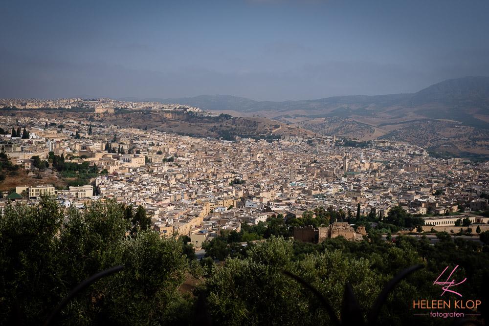 Uitzicht over de medina van Fes