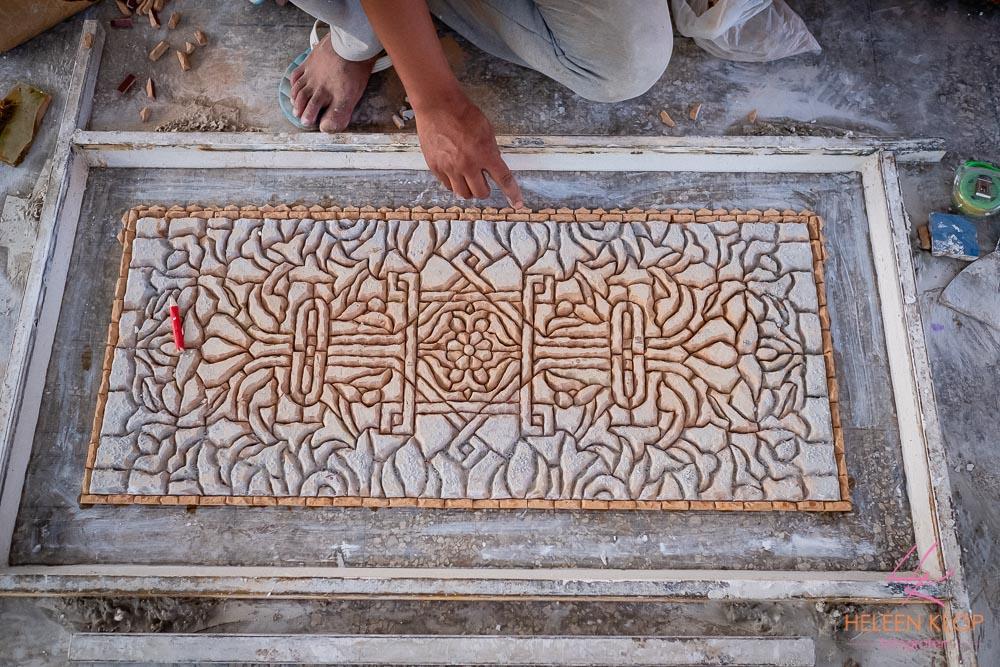 Mozaïeken tafel maken