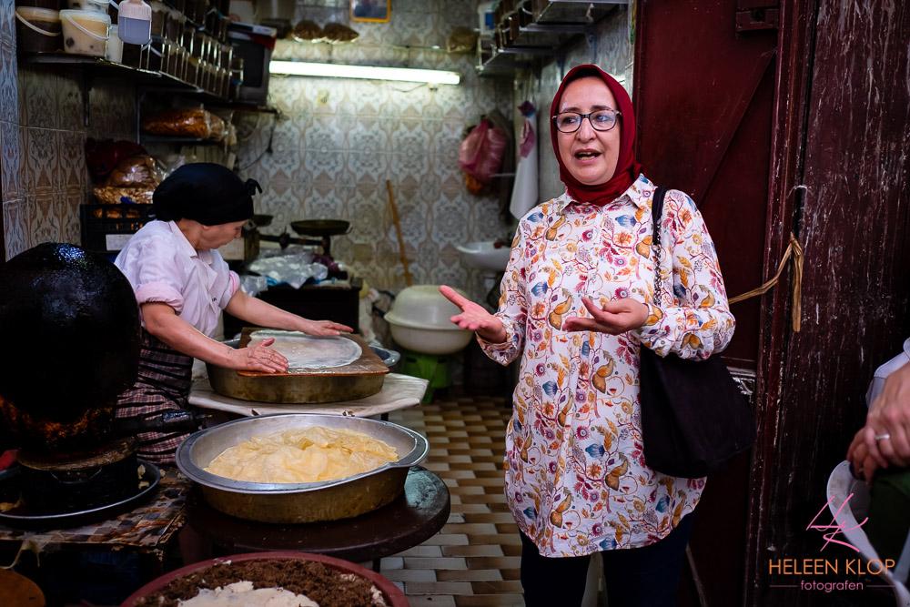 Pastilla, filodeeg gevuld met vlees amandelen kaneel en specerijen