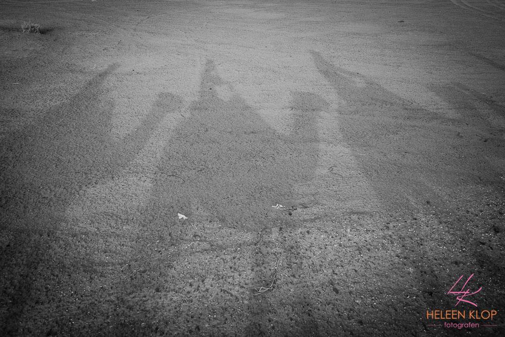 Op kamelen / dromedaris in de Erg Chebbi woestijn