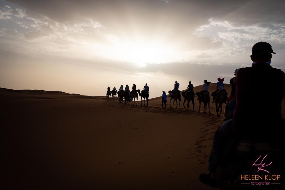 Zonsondergang Erg Chebbi woestijn