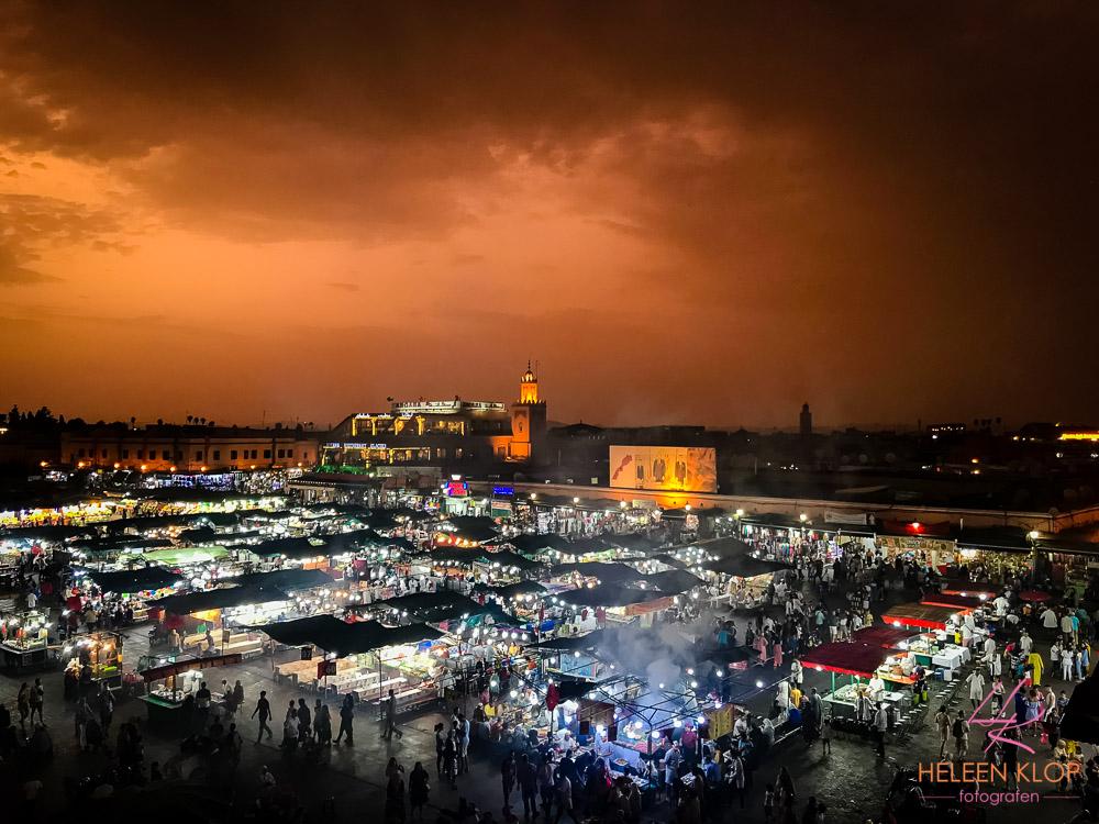 Zonsondergang van Marrakech