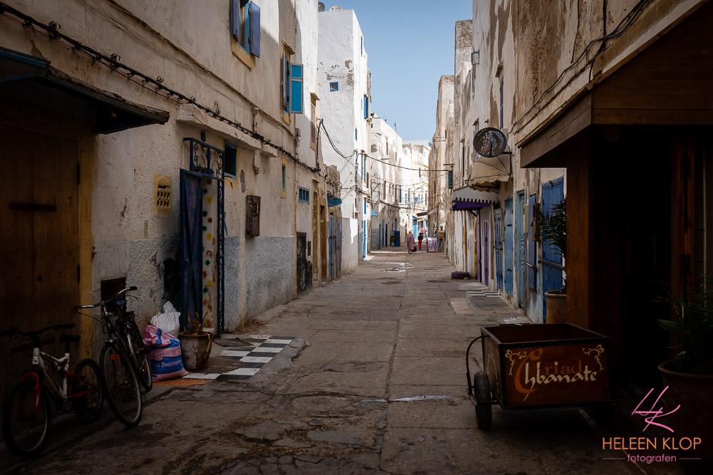 Nog rustige straten van Essaouira