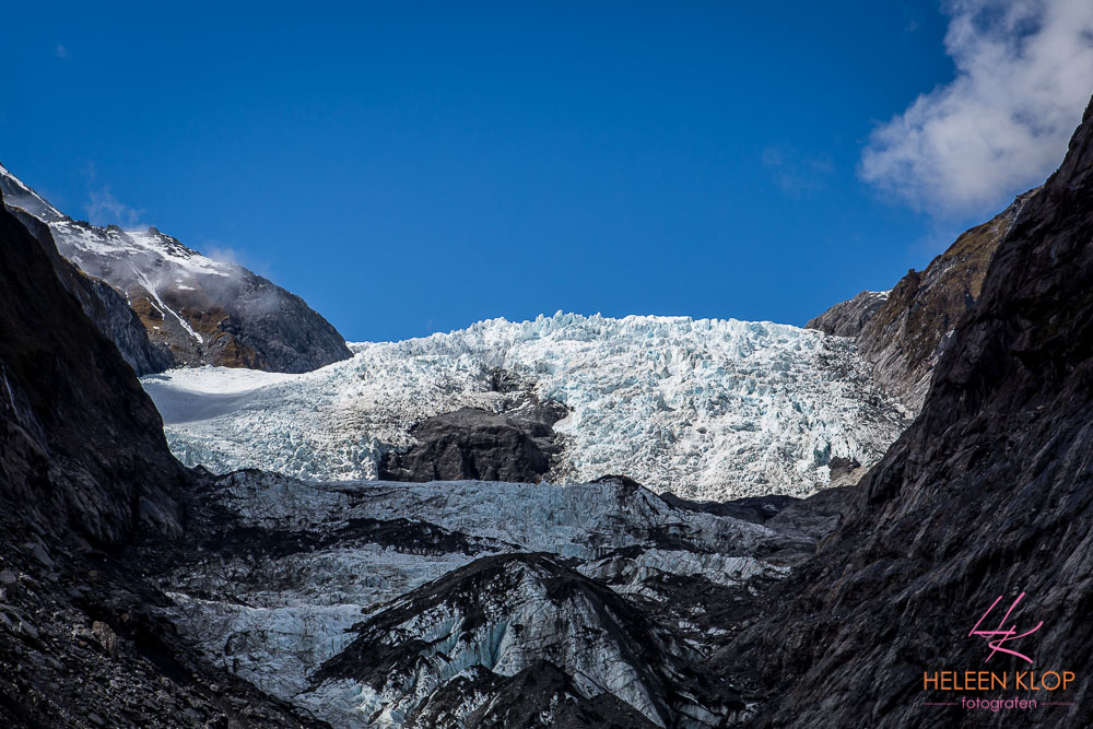 Onderste regionen van de gletsjer