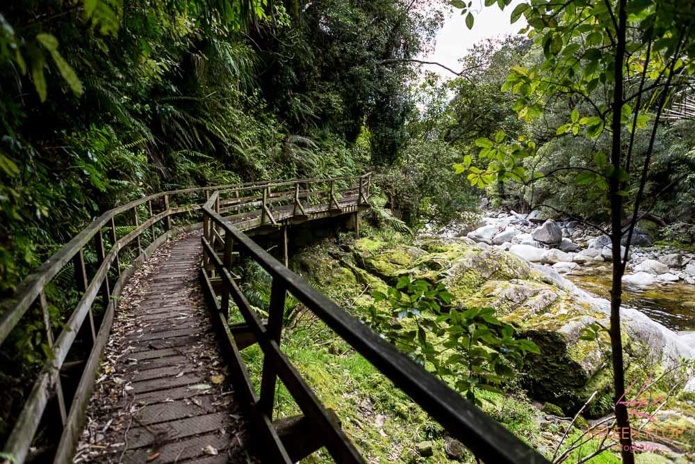 Route naar Wainui Falls