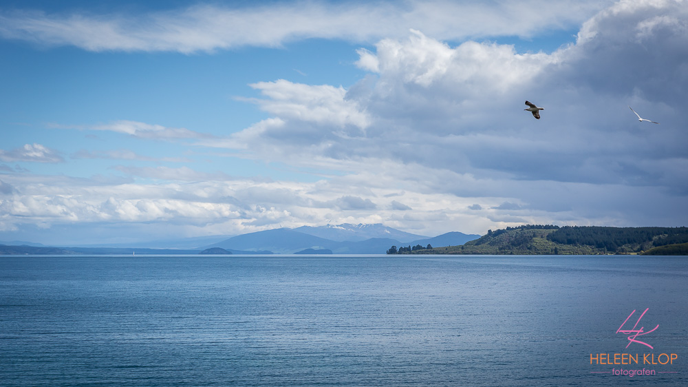 Onderweg naar Lake Taupo