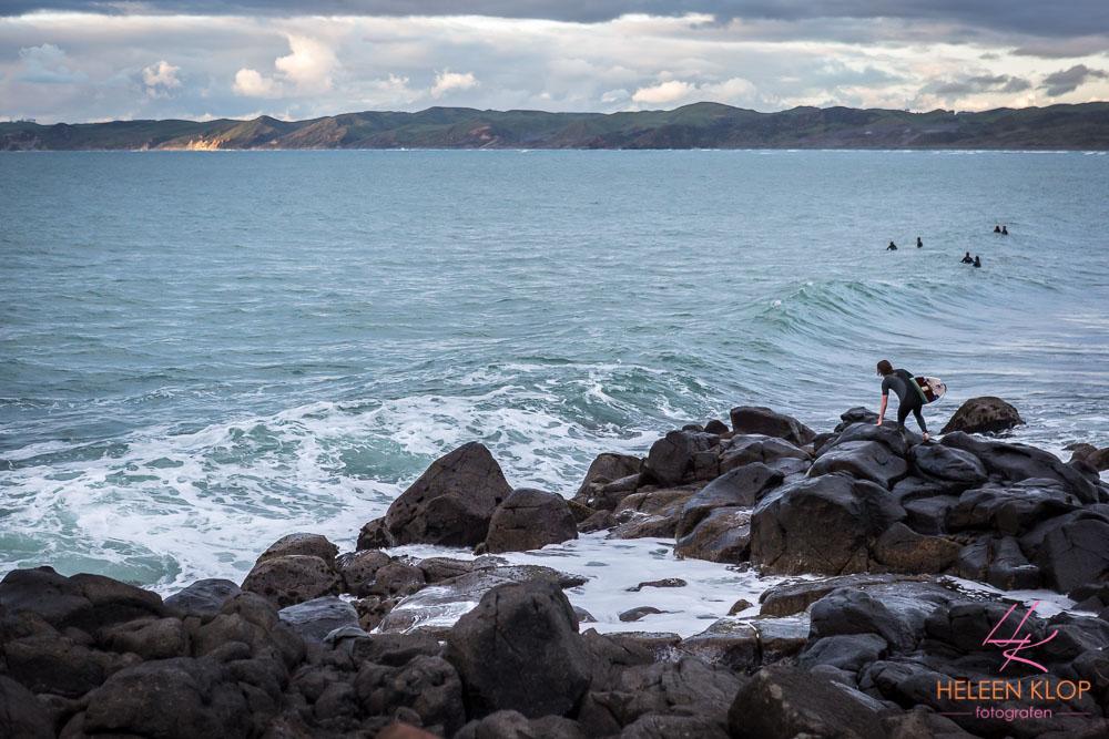 Surfers bij The Point