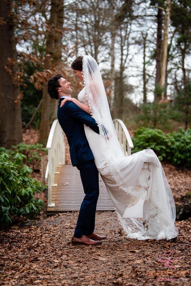 Bruidsreportage in het bos Zeist